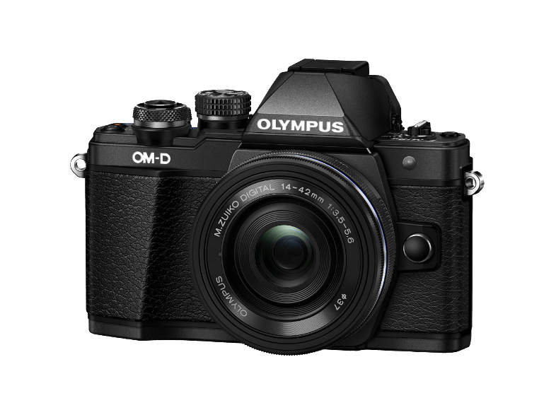 OLYMPUS E-M10 Mark II Kit EZ-M 14-42mm EZ Black - (V207052BE000) mirrorless cameras