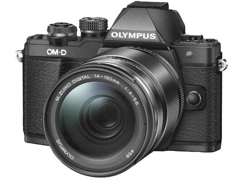 OLYMPUS E-M10 Mark II Kit 14-150mm R Black - (V207054BE000) mirrorless cameras
