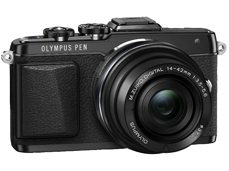 OLYMPUS E‑PL7 Kit Pancake EZ-M 14-42mm EZ Black - (V205073BE001) mirrorless cameras