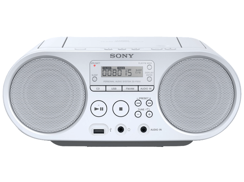 SONY ZS-PS50 White - (ZS-PS50W) ραδιόφωνα