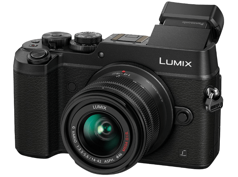 PANASONIC Lumix DMC-GX8 Black + Kit φακού 14-42mm f/3.5-5.6 OIS - (DMC-GX8KEG-K) mirrorless cameras