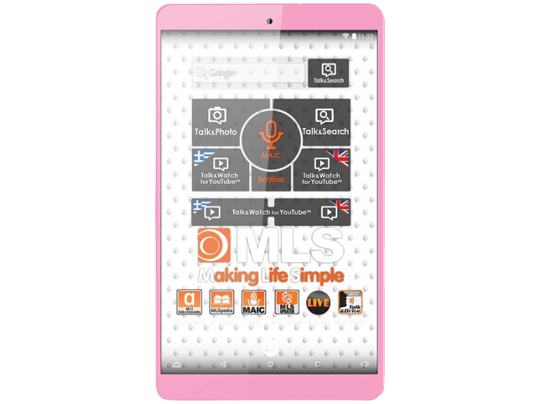 MLS iQTab Rose/ Quad-Core 1.30 GHz/ 8 GB/ Wi-Fi android tablet