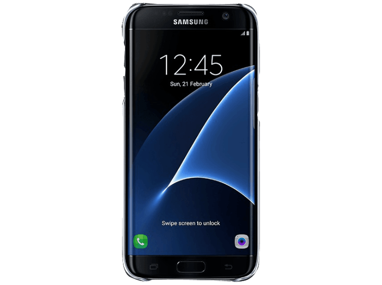 SAMSUNG Clear Cover Galaxy S7 Edge Black - (EF-QG935CBEGWW) θήκες  μεμβράνες samsung