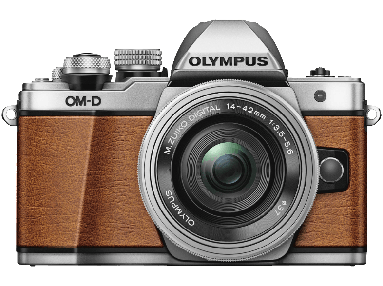 OLYMPUS E-M10 Mark II Kit EZ-M 14-42mm EZ Brown Leather - (V207056NE000) mirrorless cameras