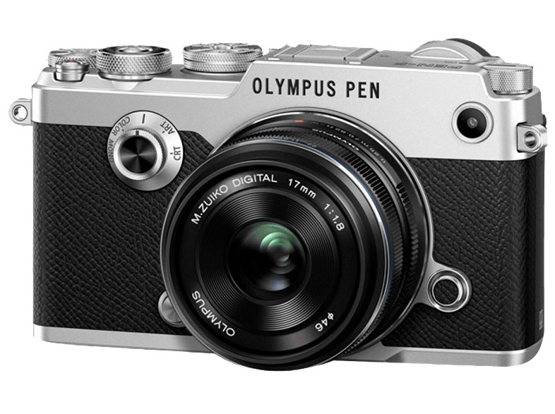 OLYMPUS PEN-F Kit EW-M 17mm f/1.8 Silver - (V204063SE000) mirrorless cameras