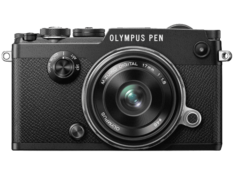 OLYMPUS PEN-F Black + EW-M1718 - (V204063BE000) mirrorless cameras