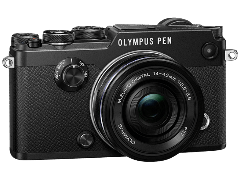 OLYMPUS PEN-F Pancake Kit EZ-M 14-42mm EZ Black - (V204061BE000) mirrorless cameras