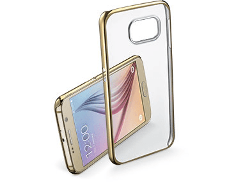 CELLULAR LINE Clear Crystal case Galaxy S7 Gold - (CLEARCRYGALS7H) θήκες  μεμβράνες samsung