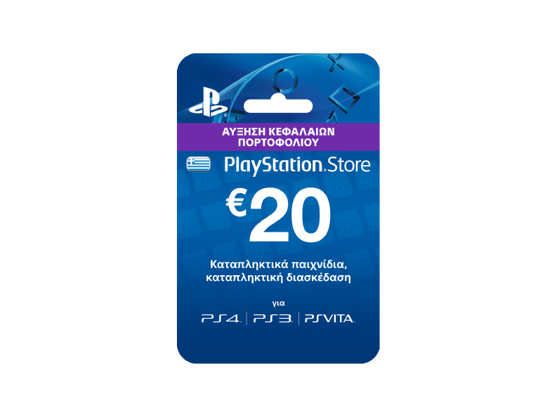 SONY SW PlayStation Live Cards Hang 20€ ps4 games