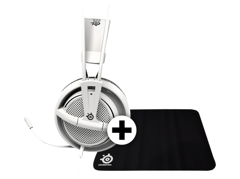 STEELSERIES SIBERIA 200 White - (DCA.P/C.06071) + Mousepad QCK ακουστικά gaming