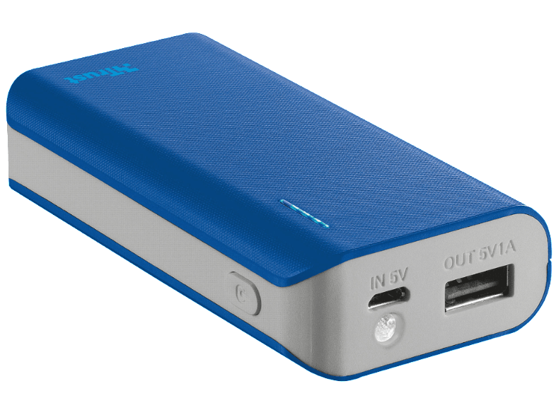 TRUST PRIMO POWERBANK 4400 PORTABLE CHARGER - BLUE - (21225) powerbanks