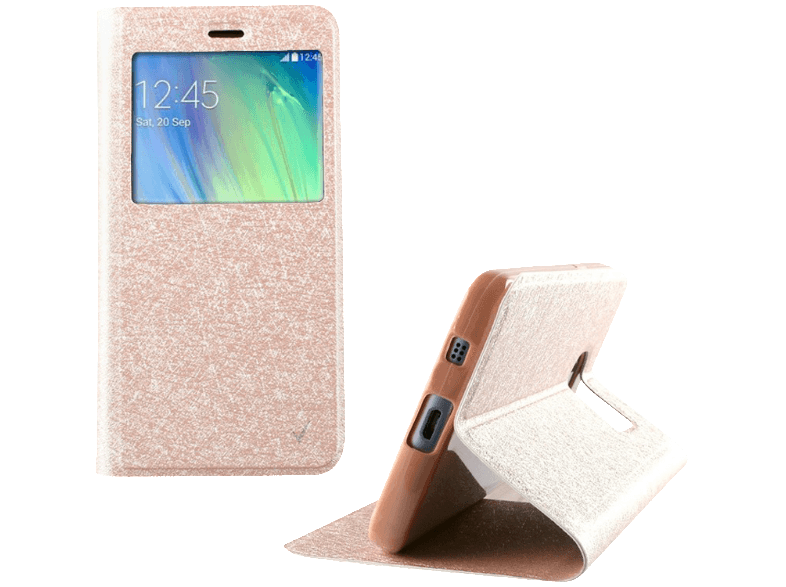 VOLTE-TEL Θήκη Samsung Galaxy A3 2016 Leather TRU View Book Gold White - (520530 θήκες  μεμβράνες samsung