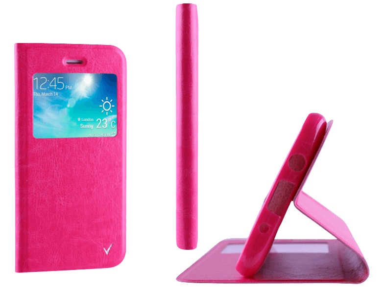 VOLTE-TEL Θήκη Samsung Galaxy A3 2016 A310 Leather-TPU View Book Stand Pink (520 θήκες  μεμβράνες samsung