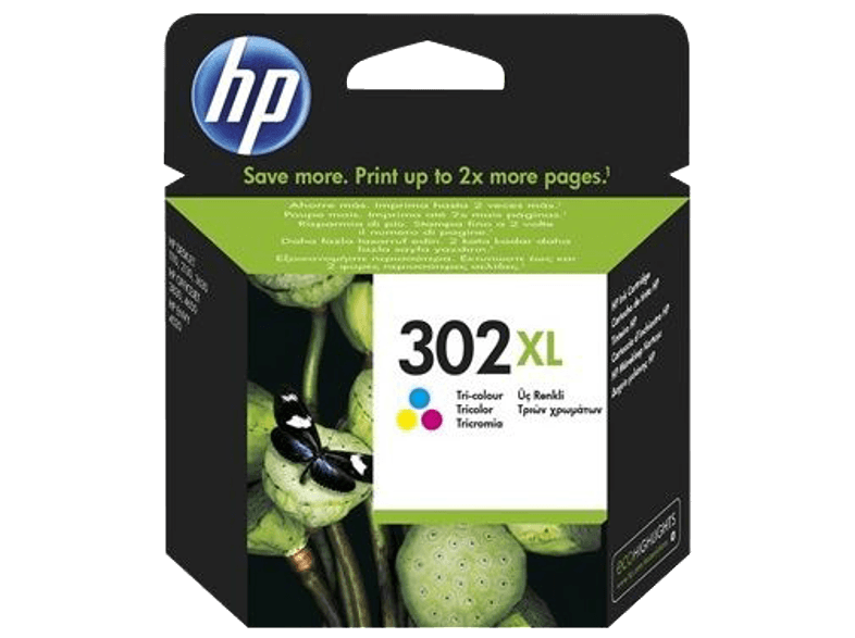 HP HP 302 XL Tri-color Original Ink Cartridge - (F6U67AE) μελάνια  toner