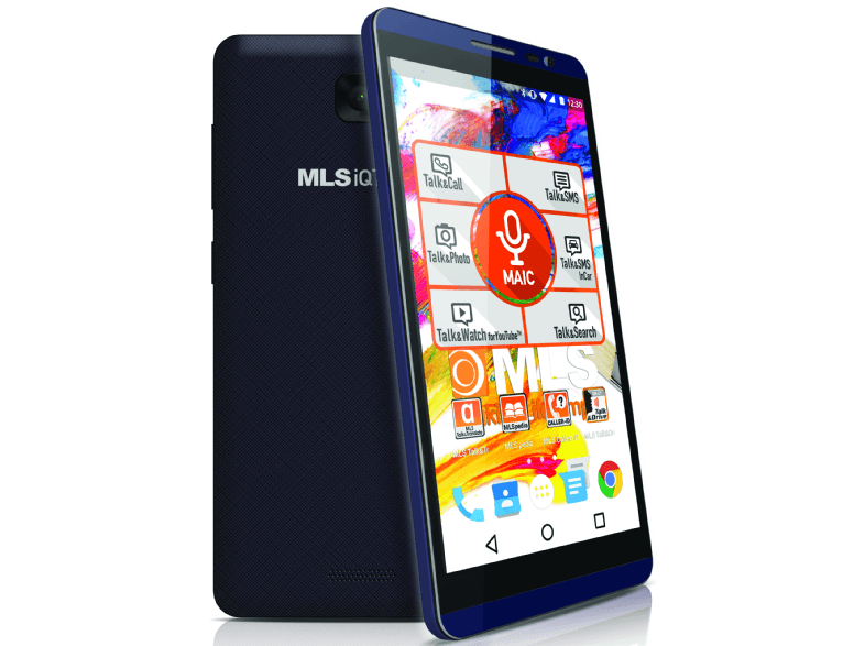 MLS iQTalk Color 4G Blue Black Dual Sim android smartphone