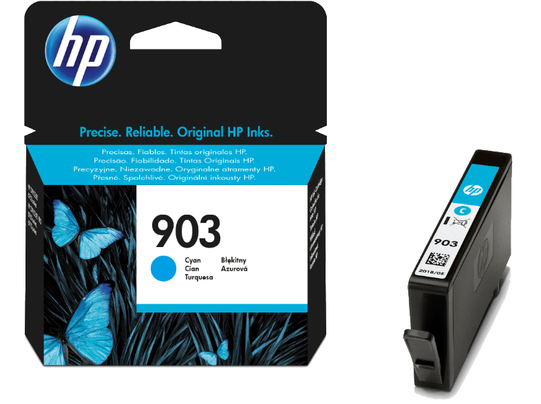 HP 903 Cyan Ink Cartridge - (HPT6L87A) μελάνια  toner