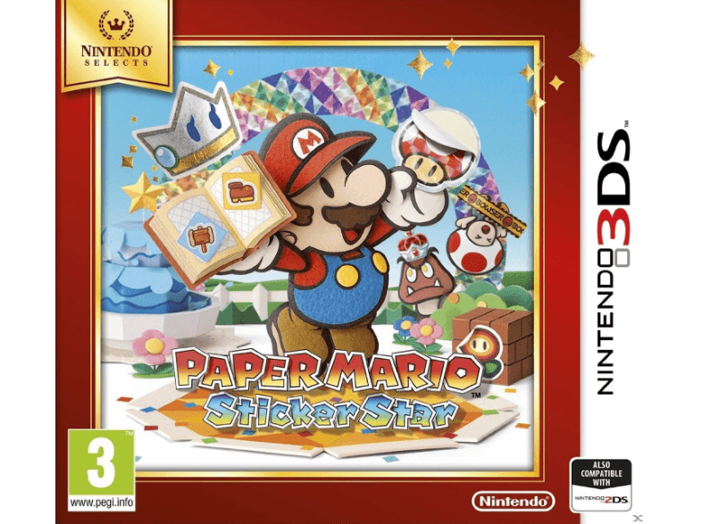 NINTENDO SW Paper Mario Sticker Star Selects games 2ds  3ds