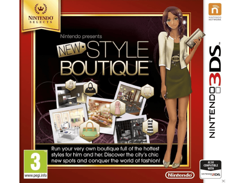NINTENDO SW Style Boutique Selects games 2ds  3ds