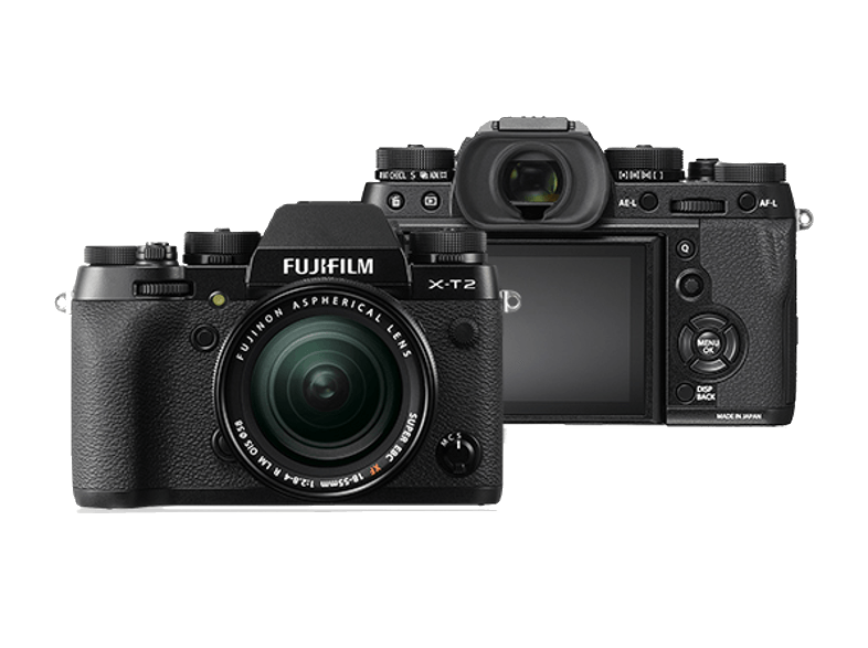 FUJIFILM X-T2 Kit Με φακό 18-55mm Black mirrorless cameras