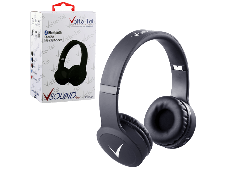 VOLTE-TEL Stereo Bluetooth Headphones V Sound Pro VT900 Black ακουστικά bluetooth