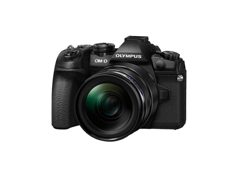 OLYMPUS E-M1 Mark II Body Black + Φακός EZ-M1240PRO - (V207061BE000) mirrorless cameras