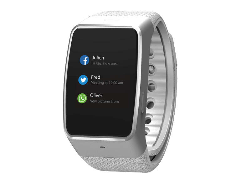 MYKRONOZ ZeWatch 4 Silver/White smartwatches