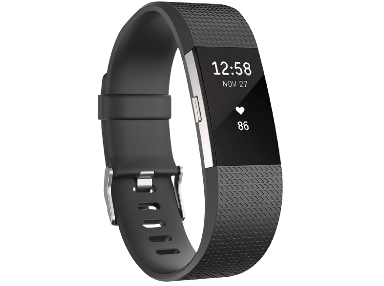 FITBIT Charge 2 Black Silver Large EMEA - (FB407SBKL-EU) activity trackers