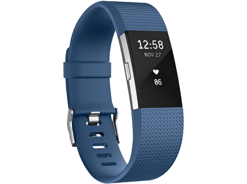 FITBIT Charge 2 Blue Silver Large EMEA - (FB407SBUL-EU) activity trackers