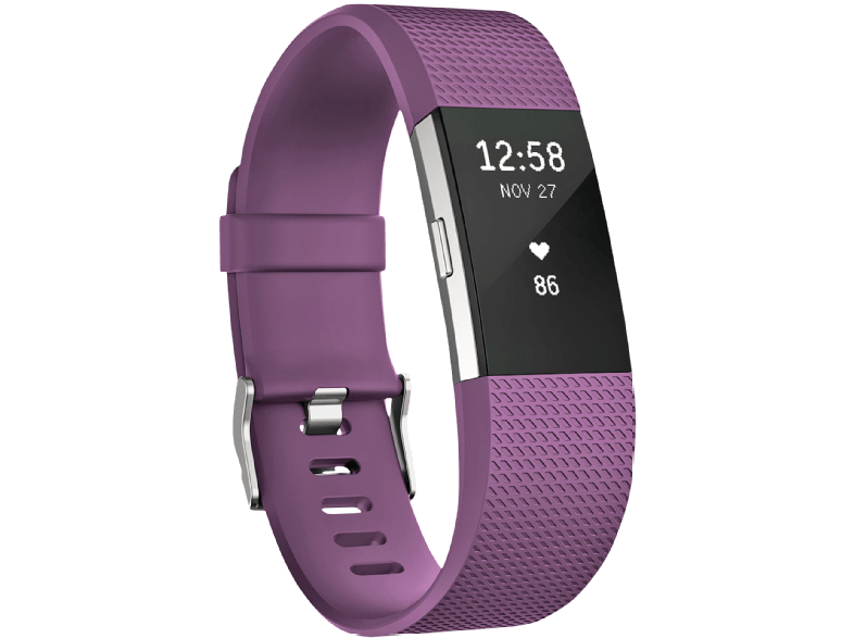FITBIT Charge 2 Plum Silver Small, EMEA - (FB407SPMS-EU) activity trackers
