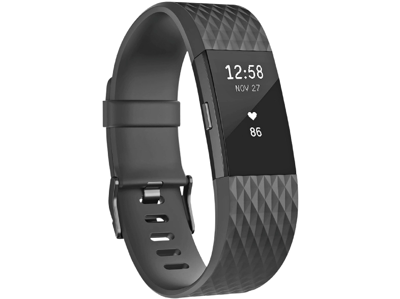 FITBIT Charge 2 Black Gunmetal Large EMEA - (FB407GMBKL-EU) activity trackers