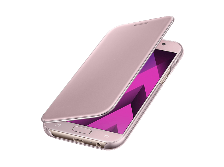 SAMSUNG Clear View Cover Pink Galaxy A5(2017) - (EF-ZA520CPEGWW) θήκες  μεμβράνες samsung