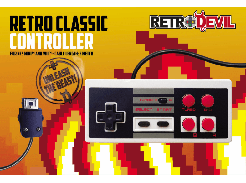 REE GROUP RetroDevil NES Classic Mini Controller gaming controllers