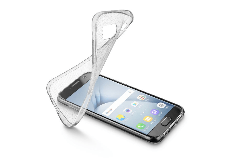 CELLULAR LINE Soft Rubber Case Transparent - (SOFTGALA317T) θήκες  μεμβράνες samsung
