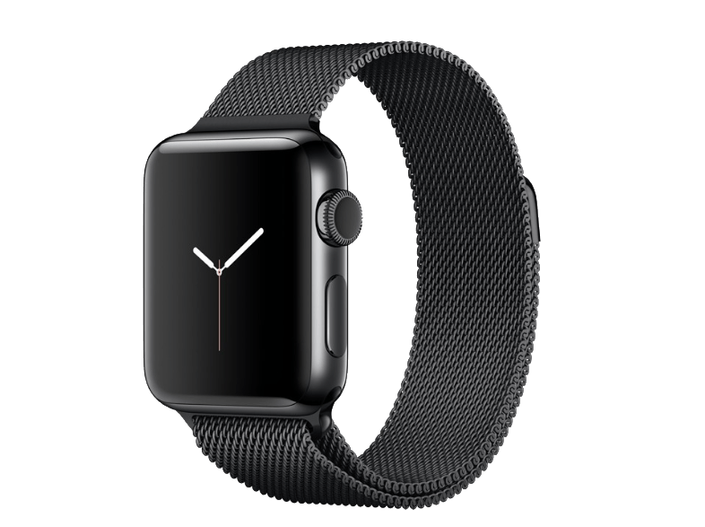 APPLE Watch Series 2 38mm SS Space Black Milanese - ( MNPE2GK/A) smartwatches