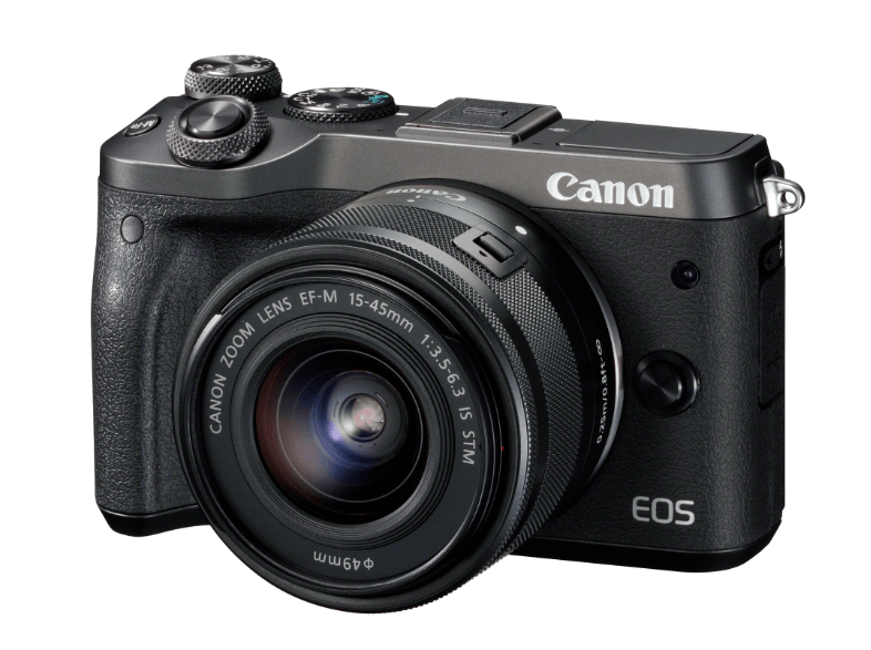 CANON EOS M6 με φακό 15-45mm Black mirrorless cameras