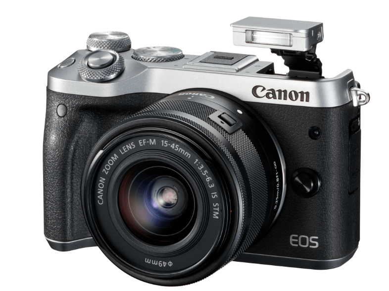 CANON EOS M6 με φακό 15-45mm Silver mirrorless cameras