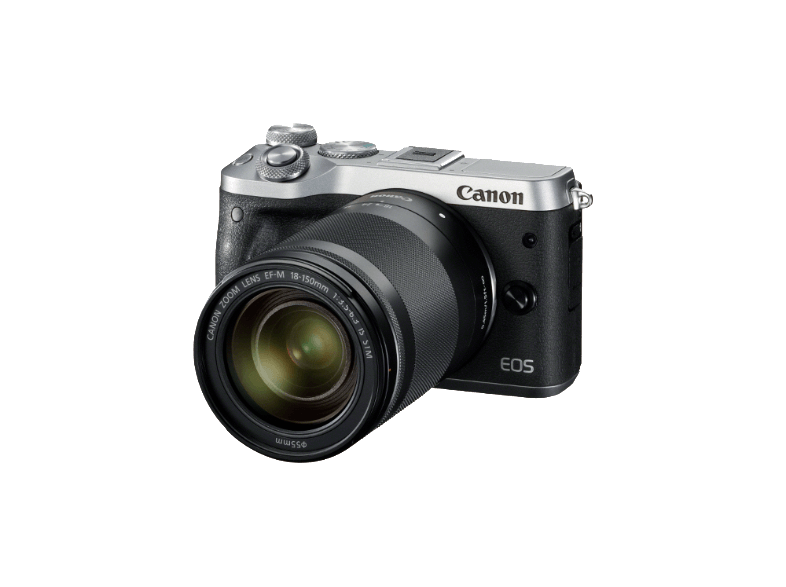 CANON EOS M6 με φακό 18-150mm Silver mirrorless cameras