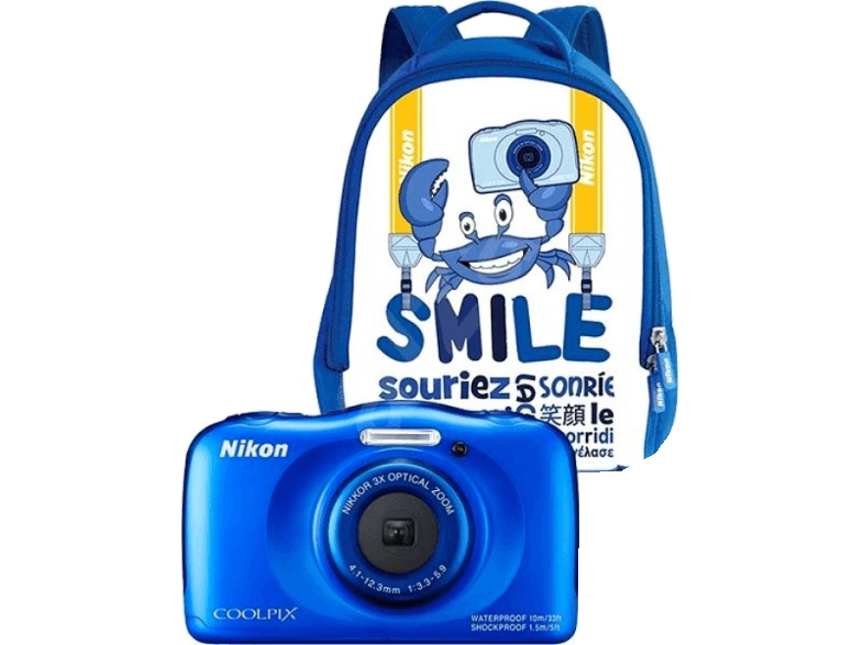 NIKON COOLPIX W100 Blue Backpack Kit compact cameras