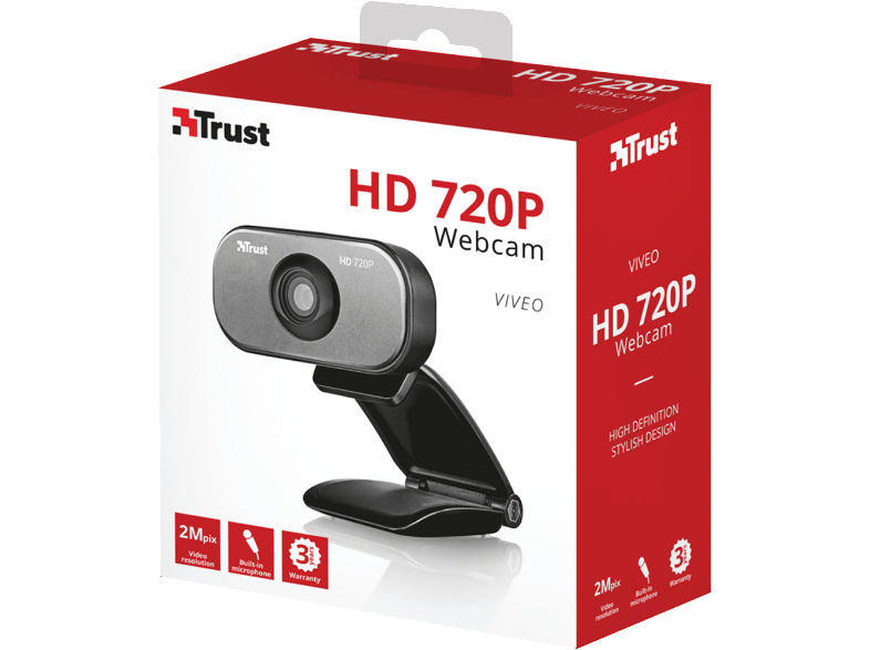 TRUST Viveo HD 720p Webcam webcam