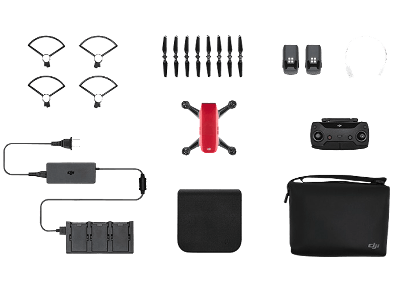 DJI Spark Lava Red Fly More Combo drones