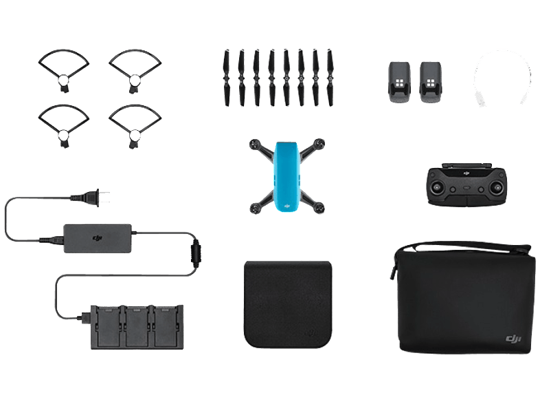 DJI Spark Sky Blue Fly More Combo drones