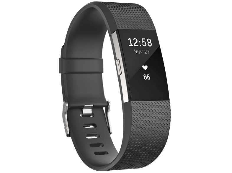 FITBIT Charge 2 Black Silver Small - (FB407SBKS-EU) activity trackers