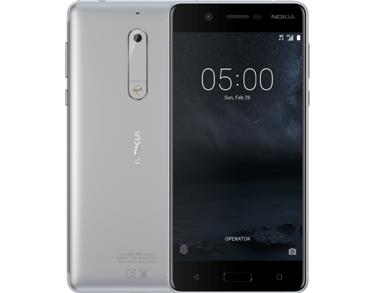 NOKIA 5 Dual Sim Silver android smartphone