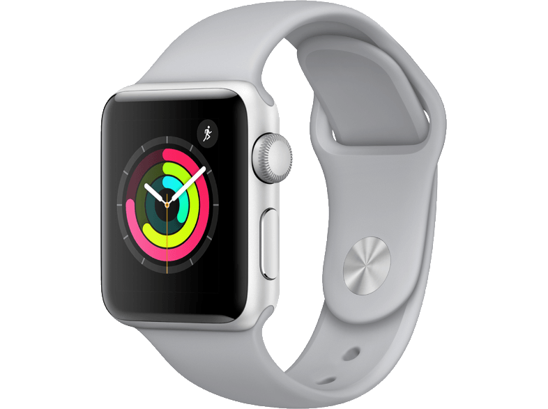 APPLE Watch Series 3 38mm Silver με γκρι sport band smartwatches