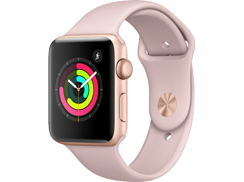 APPLE Watch Series 3 42mm Gold με ροζ sport band smartwatches