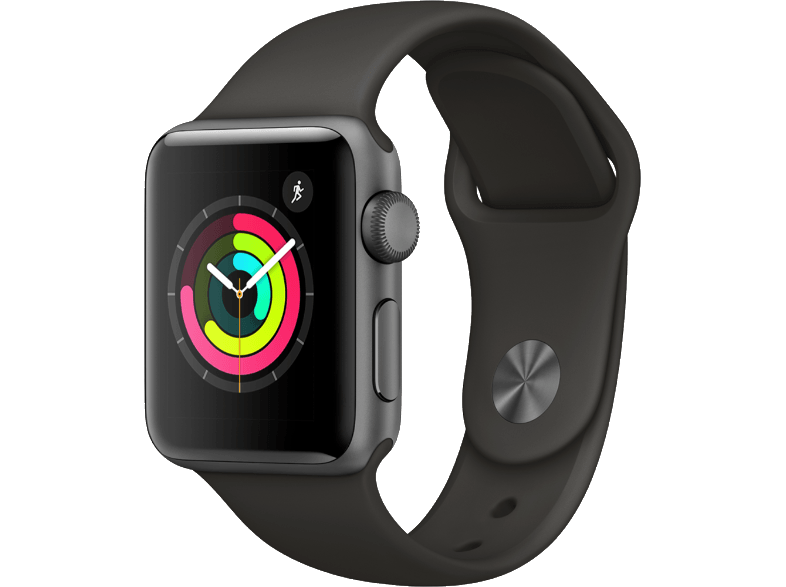 APPLE Watch Series 3 38mm Space Grey με γκρι sport band smartwatches