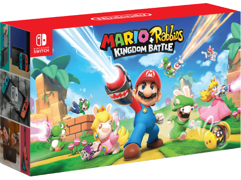 NINTENDO Switch + Mario & Rabbids Kingdom Battle φορητές κονσόλες