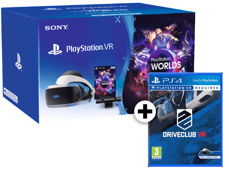 SONY PlayStation VR Headset and Camera V2 and VR Worlds and DriveClub αξεσουάρ ps4