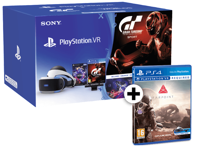 SONY PlayStation VR Headset and Camera V2 and VR Worlds and Gran Turismo Sport a αξεσουάρ ps4