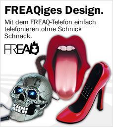 Freaq Telefone, Fussball, Kiss, Stiletto, Skull,